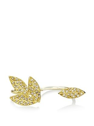 66% OFF Joanna Laura Constantine Leaf Double Ring