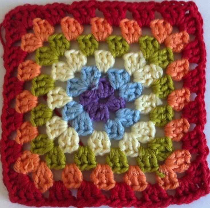 Tutorial para hacer los cuadrados de la abuela, muy fácil, para principiantes...