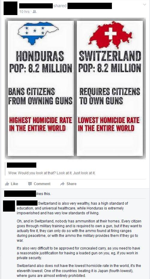 Facebook Gun Nut Logic, not the complete truth...read the fine print,