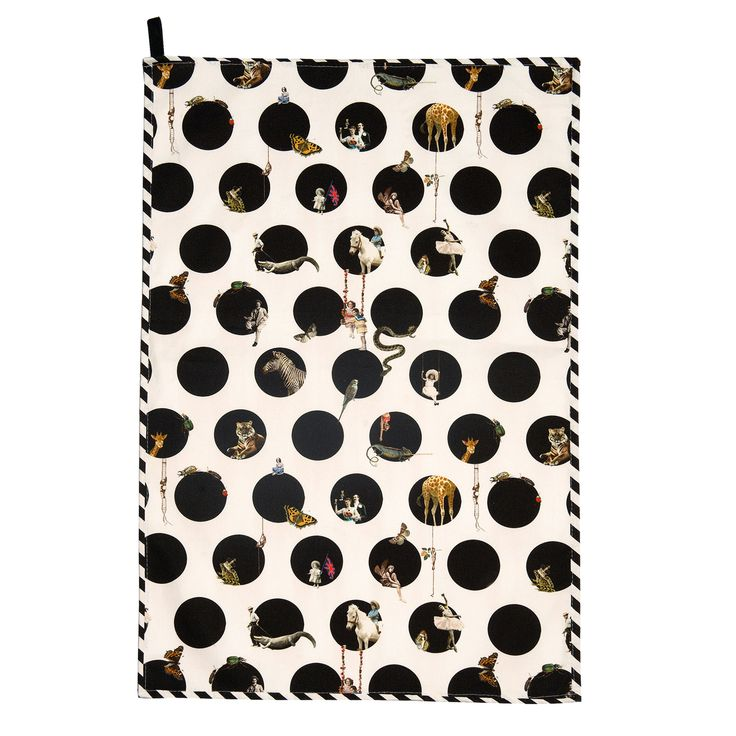 Character Polka Tea Towel | Emily Humphrey | Wolf & Badger