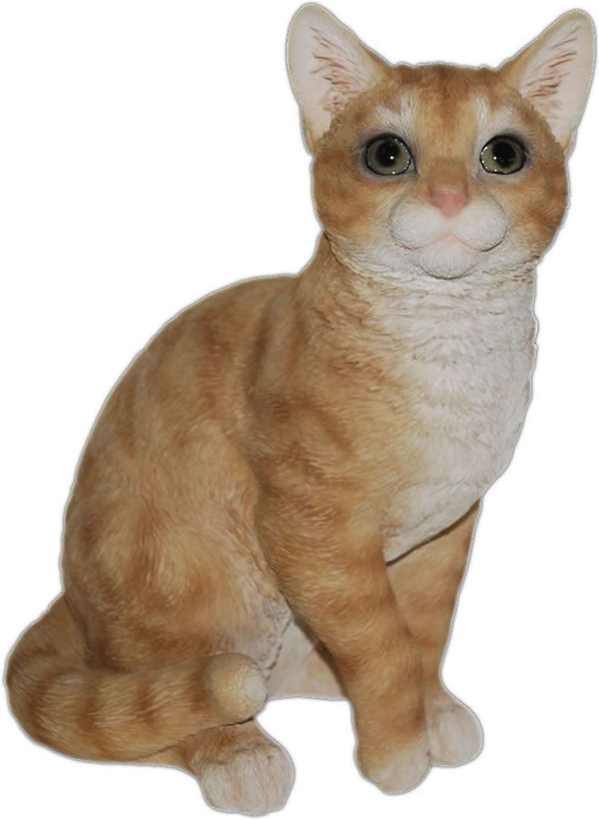 Sitting Ginger Cat Statue 12 H With Images Ginger Cats Cat