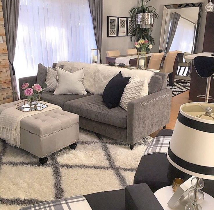 Black White And Silver Living Room Find More Ideas