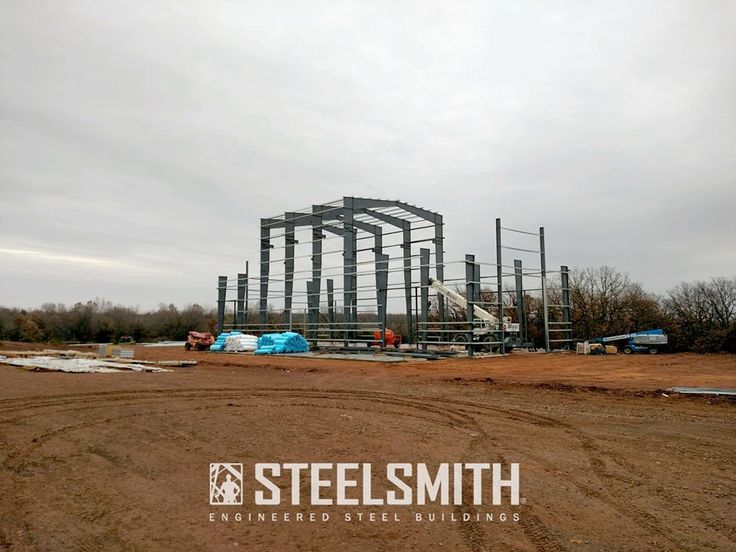Current Progress on this 13,000 sq ft steel building in Cushing, Oklahoma.