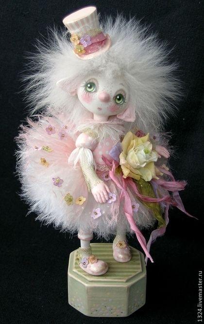 """Коллекционные куклы ручной работы. Ярмарка Мастеров - ручная работа. Купить Кукла """"Розочка"""". Handmade. Розовый, цветок из ткани"""