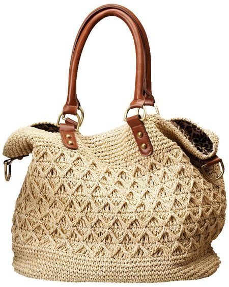 Cream crochet purse natural