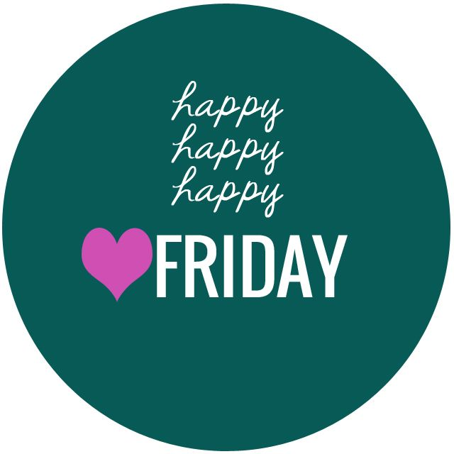 6 september : It's Friday :-) // Happy Happy Happy Friday || HeathersDish.com // Each day one pin that reflects our day