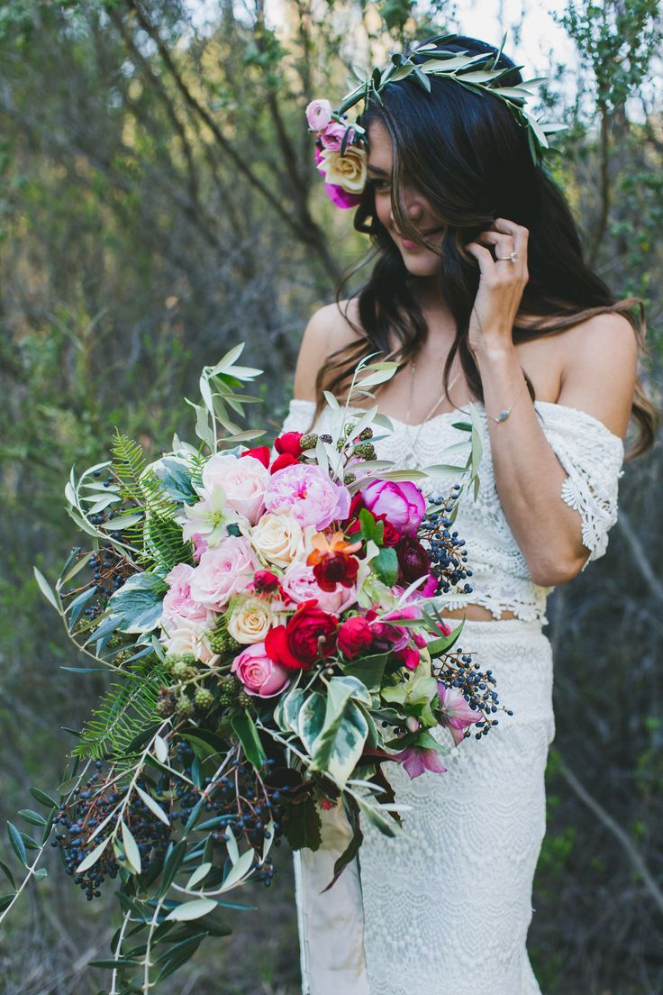 If we have those bright flowery bridesmaid dresses?