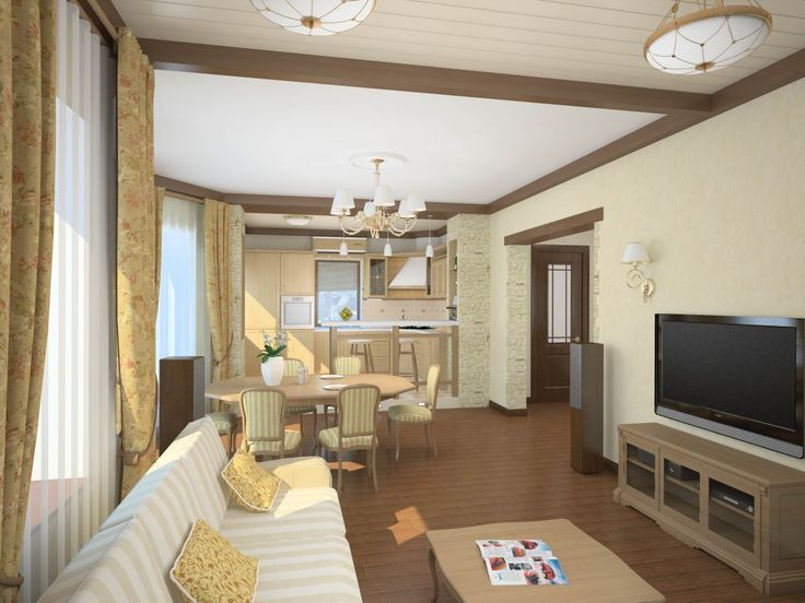 дизайн гостинной с кухней в доме - Поиск в Google