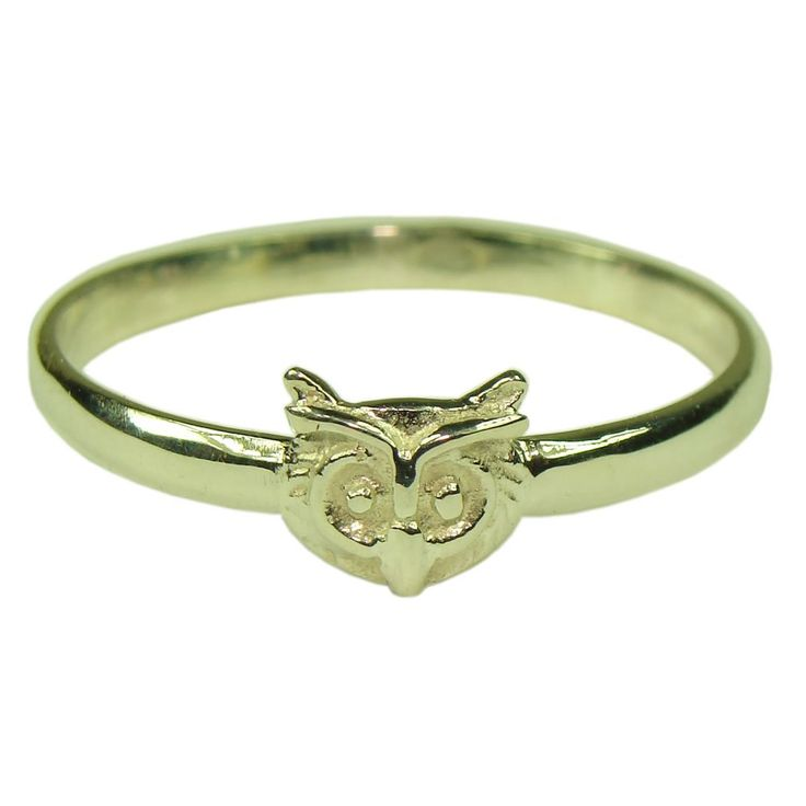 Souvenirs of France - Owl of Dijon Ring - Size: 7 - Material: 18-Carat Solid Gold. Traditional jewel of the French regions. French traditional manufacturing. Material: 18-carat Solid Gold.