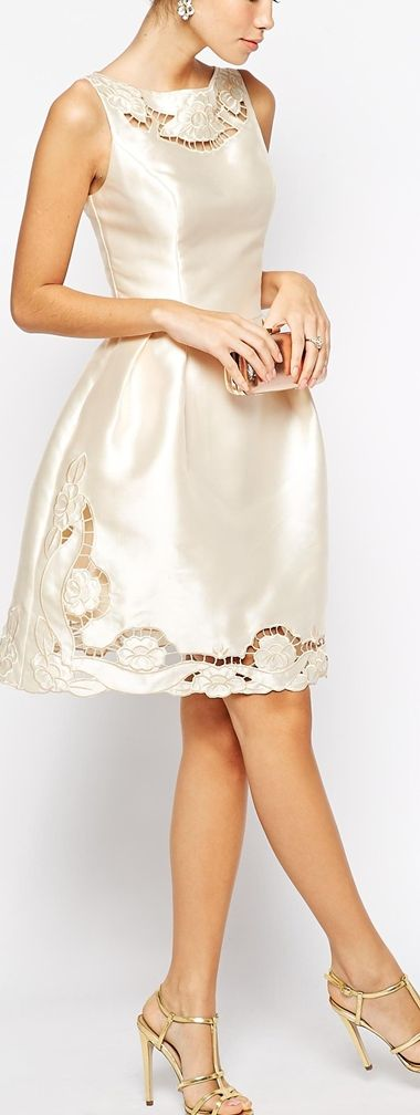 cutwork dress - this would be super cute for a courthouse wedding!