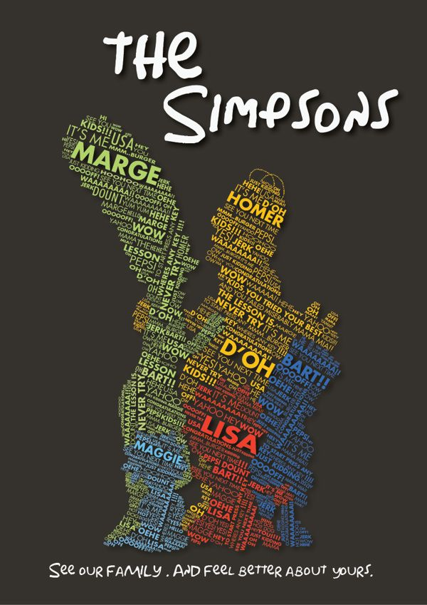 the simpsons poster by Dana Haddad, via Behance