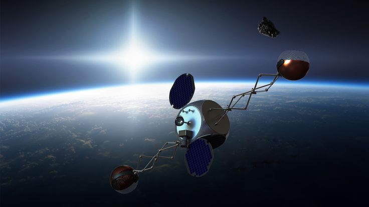Sling-Sat removing space debris