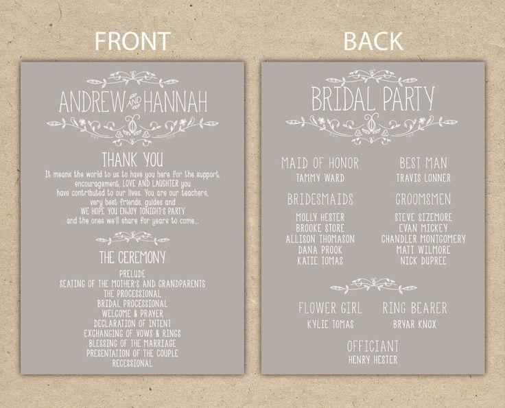 how to word wedding programs akba greenw co