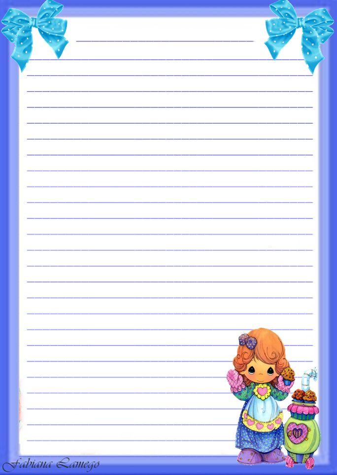 Momentos Preciosos Papeis De Carta Lined Writing Paper
