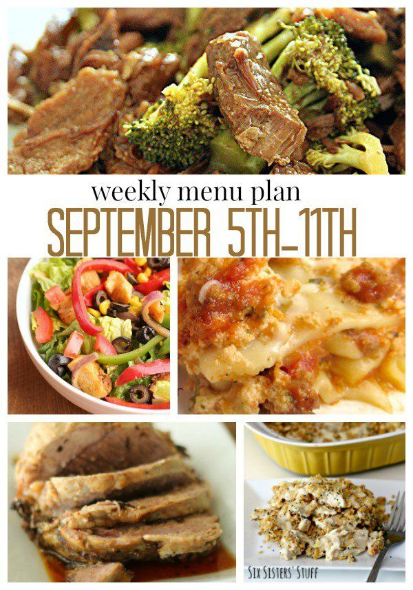 7 Fabulous Hair Magazines You Ve Got To Flip Through Hair: Weekly Menu Plan For September 5-11 From SixSistersStuff