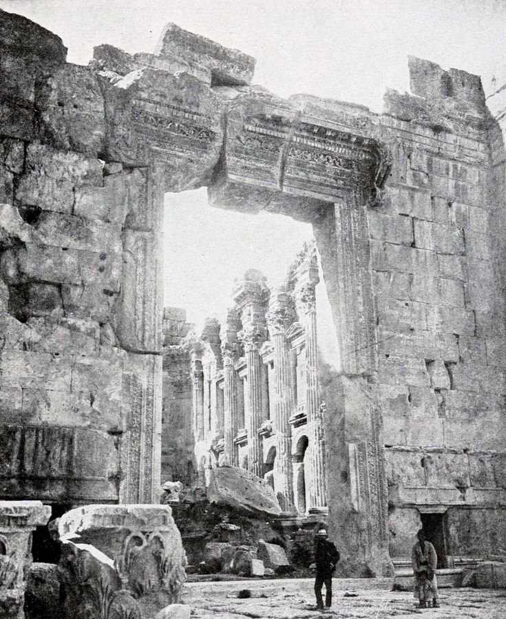 The doorway at the Temple of Jupiter, Baalbek, Syria