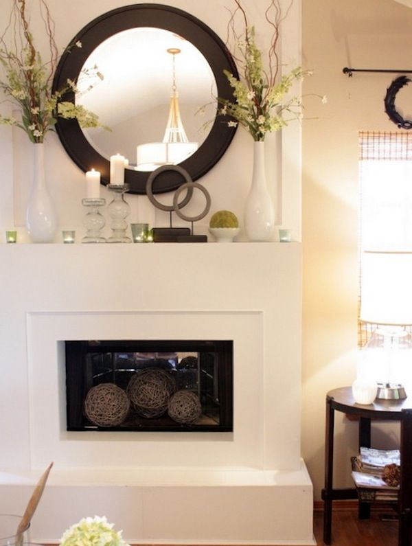Transform Your Fireplace Mantel Into A Spring Focal Point