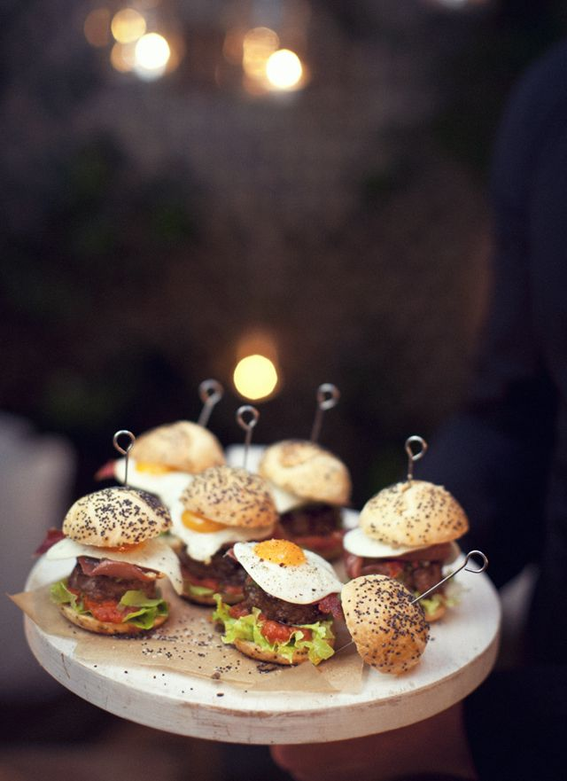 chic cocktail party canapes/sliders