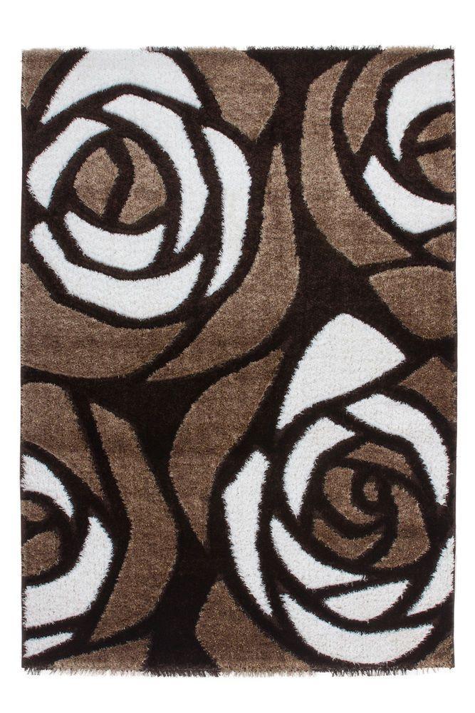 Teppich Fußboden Design China-Fuyang Braun 160cmx230cm K100114 Polyester