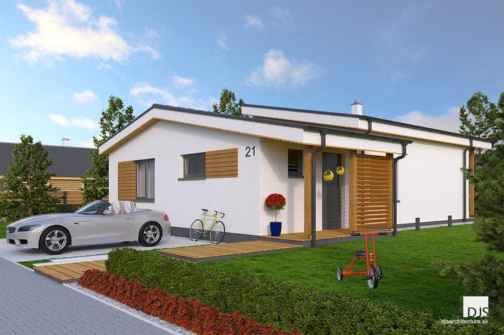 Projekt domu - i86 - Pohľad z ulice