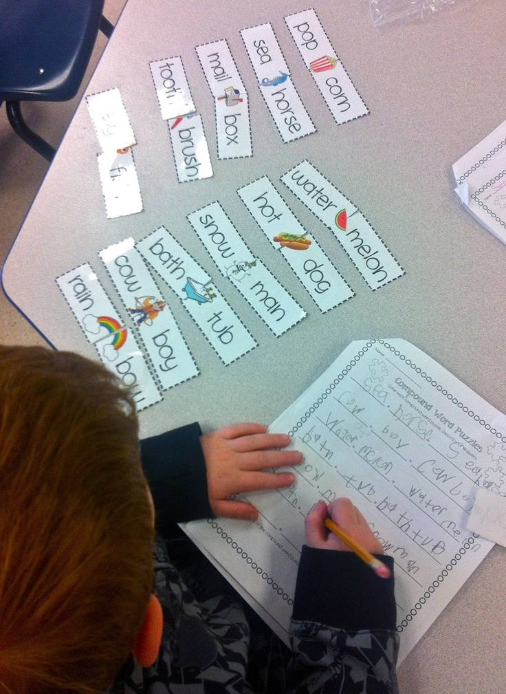 FREEBIE Compound Word Puzzles and worksheets! {Fun with Firsties} Really great worksheets to intoduce compound words.