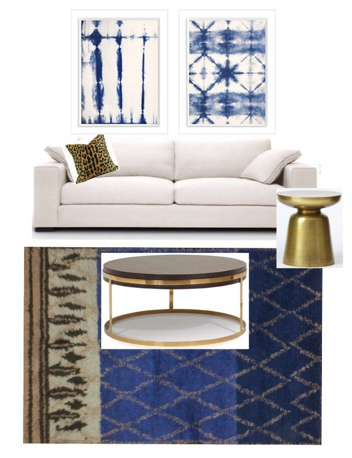 I love the depth ofthis room. The deep indigo and burnished brass make it warm and inviting and don
