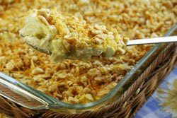Ritz Chicken Casserole.  My mom makes this all the time!  It's awesome!