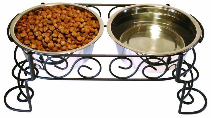 Amazon.com : Ethical Mediterranean Double Diner, 1-Pint : Pet Bowls : Pet Supplies