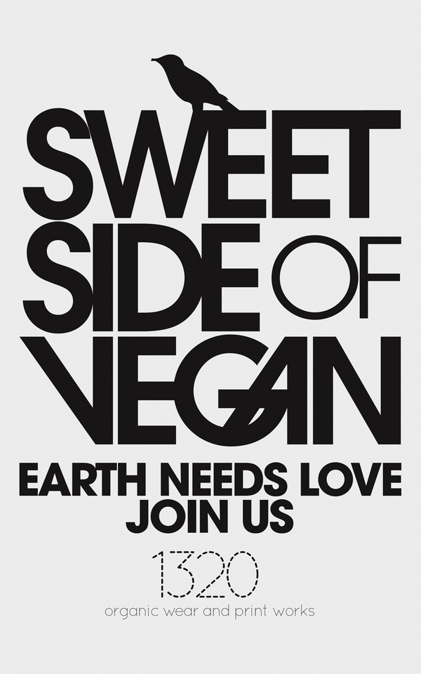 Poster para Sweet Side of Vegan por 1320 works by 1320 Works , via Behance