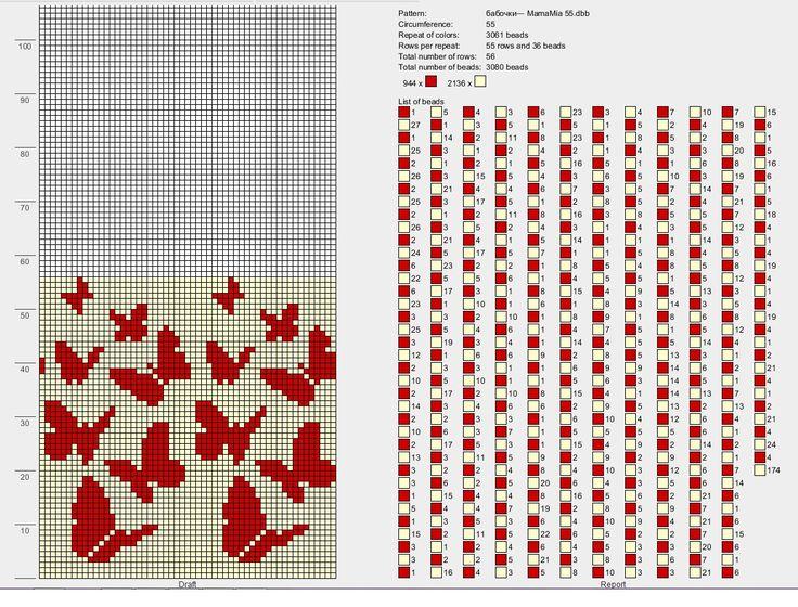 Papillons 55 perles