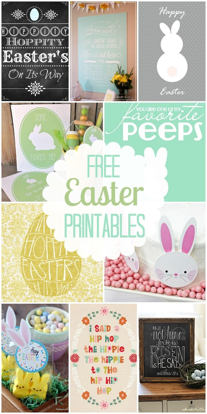 40+ FREE Easter printables!! All so adorable and perfect for decorations, tags, and crafts! { lilluna.com }