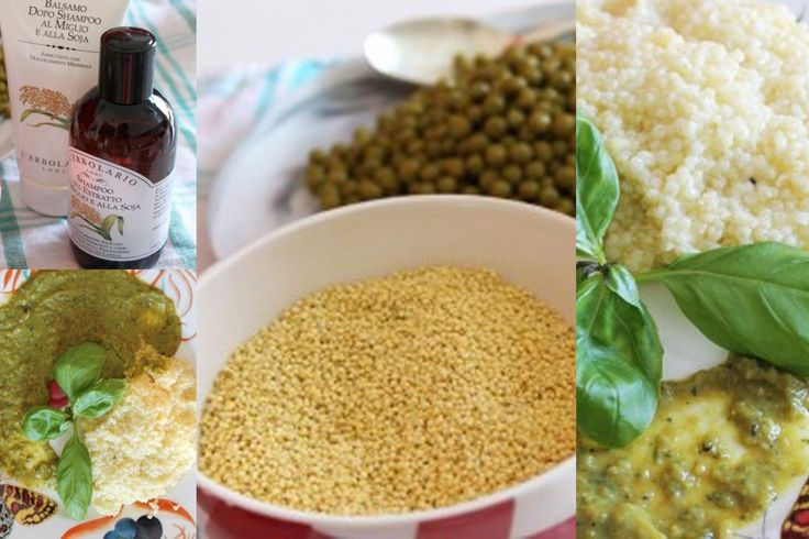 Antipasto - Insalata di miglio con crema di piselli al profumo di basilico Ecco la ricetta: http://www.erbolario.com/ricettevegane/ricette/5-Insalata_di_miglio_con_crema_di_piselli_al_profumo_di_basilico Ricetta ispirata da  L'Erbolario Shampoo all'Estratto di Miglio