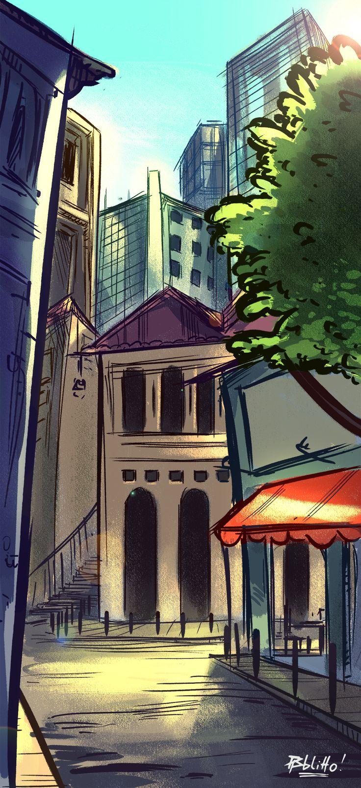 Manhã no Centro da Cidade