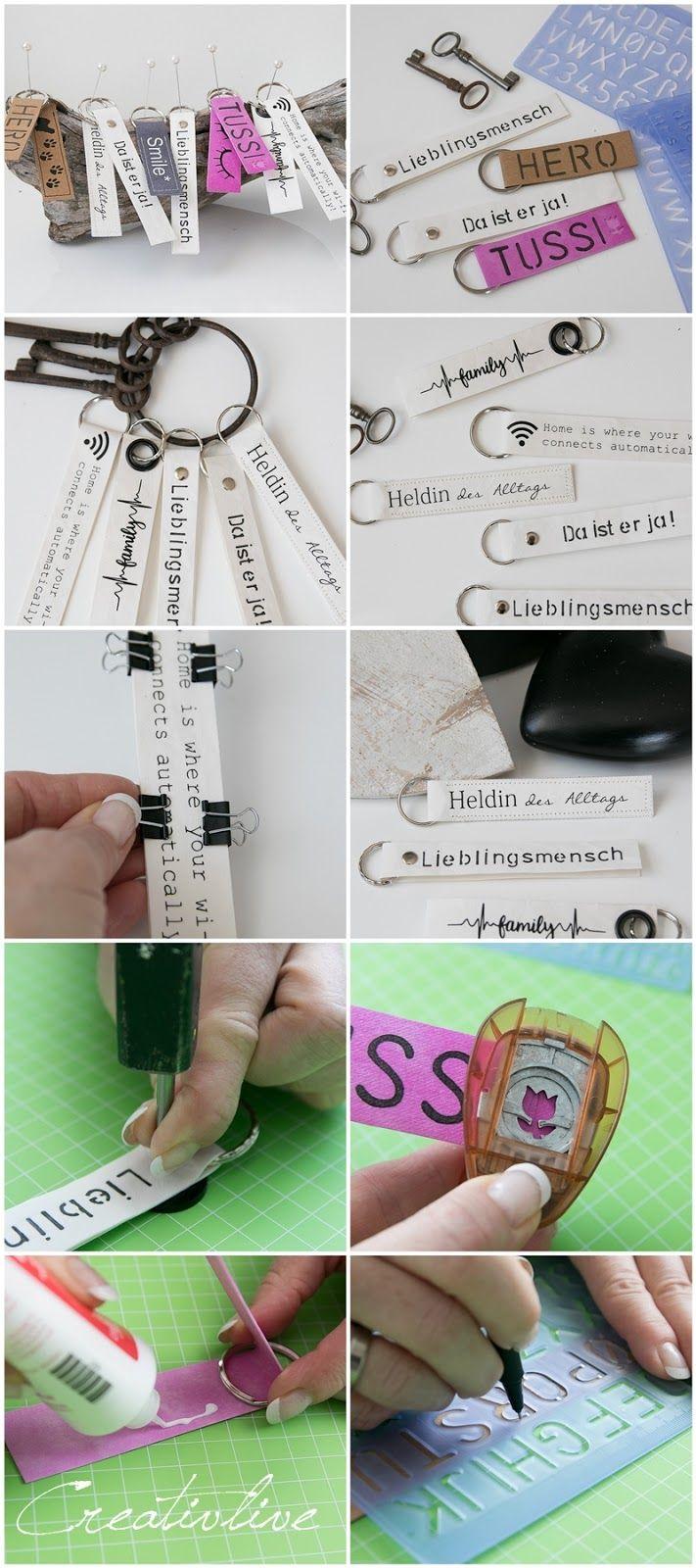 DIY Schl�sselanh�nger aus SnapPap (Geschenkidee zum Valentinstag ?)