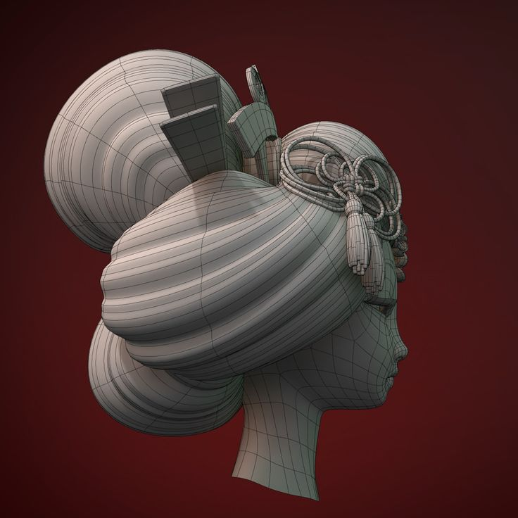 geisha head 3d max