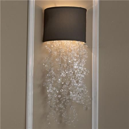 Framed Crystal Glam Square Ceiling Light Wall Sconces