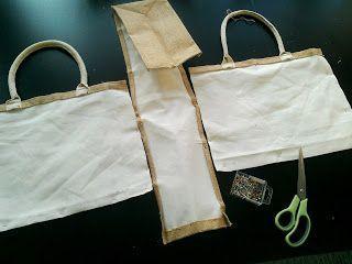 Hip Homemade: Tutorial AH jute tas pimpen mét binnenvoering  - stap voor stap beschrijving