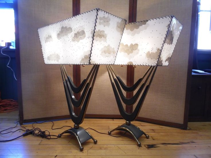 Best 25 atomic table ideas on pinterest mid century modern 1950s pair mid century majestic large boomerang atomic table lamps fiberglass aloadofball Choice Image