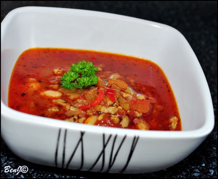 Beans chilli soup...