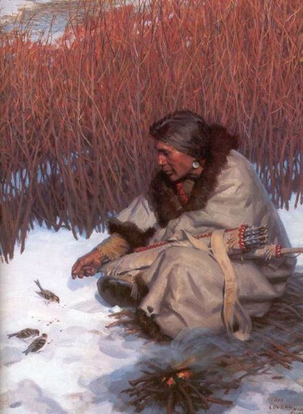 """Native American Comments & Graphics - taking care of nature """"the birds"""""""