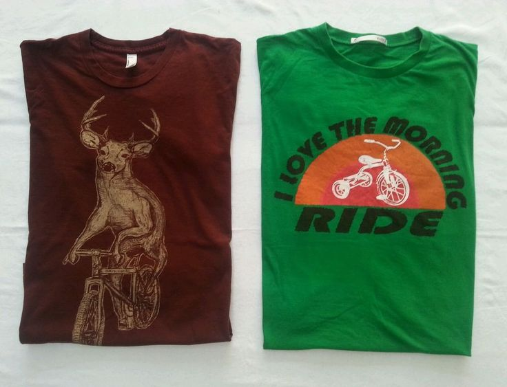 Mens Graphic T Shirts x2 Funny Cycling Stag Deer Mountain Bike Bmx Unisex Medium in Clothing, Shoes, Accessories, Men's Clothing, T-Shirts | eBay!