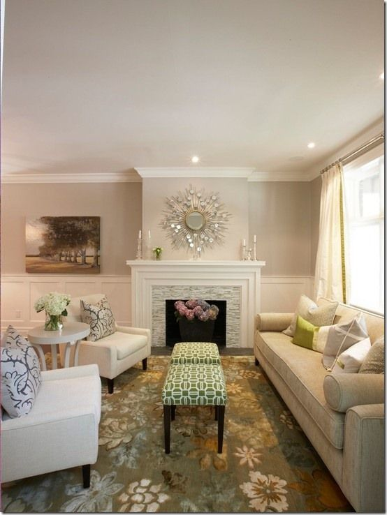 Benjamin Moore Muslin Best Neutral Paint Colour By Meredith Heron Designs Fireplace Surround Contemporary Living Room