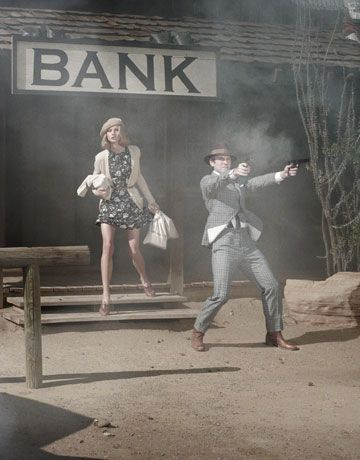 "The Look: ""Bonnie & Clyde"" - Harper's Bazaar editorial"