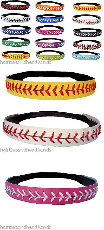 Hats and Headwear 159057: Softball Headbands U Pick Color Or Yellow Leather Seam Sport Team Wholesale Lot -> BUY IT NOW ONLY: $190 on eBay!