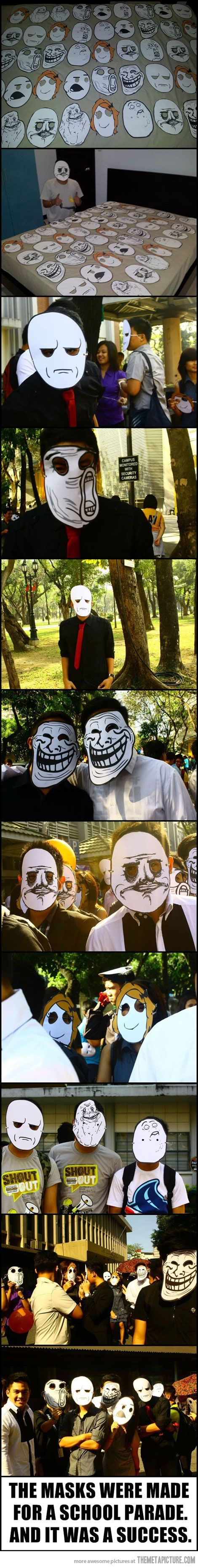 Rage face parade. This needs to be done.