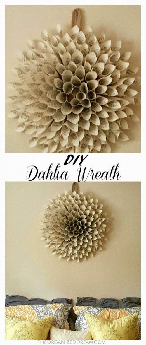 Some Easy and Nice DIY Newspaper Wall Hangings and Décor Craft Ideas - Diy Food Garden & Craft Ideas