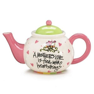 .: Ceramic Teapot, Mothers Love, Teas Time, Mothers Gifts, Teas Pots, Mothers Day Gifts Pottery, Teapotstea Time, Teas Parties, Birthday Gifts