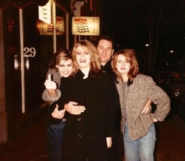 Siobhan Fahey,Sara Dallin,Keren Woodward  Robert de Niro in London - 1984