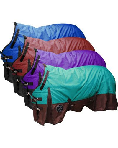 The Waterproof and Breathable Showman Perfect Fit 1200 Denier Turnout Blanket. This turnout blanket features 1200 Denier outter shell with a 70 Denier rip stop lining with 300 gram polyester filler. W