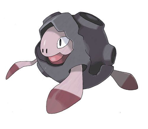 Chelonite is a dual-type Psychic/Rock Pokémon. It evolves into Galaxagos when exposed to a Moon Stone.